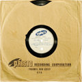 "Music Memorabilia:Recordings, Buddy Holly ""Two Timin' Woman""/ ""Little Footprints"" 10"" 78-rpmAcetate Presto (1949-53). ..."
