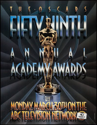 "Academy Awards Poster (AMPAS, 1987). One Sheet (25.5"" X 33""). Miscellaneous"