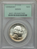 Commemorative Silver: , 1927 50C Vermont MS65 PCGS. PCGS Population (935/363). NGC Census:(768/219). Mintage: 28,142. Numismedia Wsl. Price for pr...