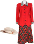 Movie/TV Memorabilia:Costumes, Dale Evans' Cowboy Hat, Red Skirt, and Red Jacket....