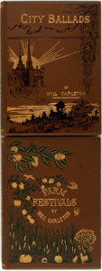 Books:Literature Pre-1900, Will Carleton. Pair of First Editions. Includes: FarmFestivals [and:] City Ballads. New York: Harper &Brothers, [1... (Total: 2 Items)