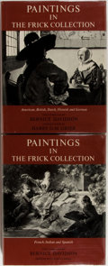 Books:Art & Architecture, Bernice Davidson (text). Paintings in the Frick Collection. New York: Princeton, 1968. First edition. Two quarto vol... (Total: 2 Items)
