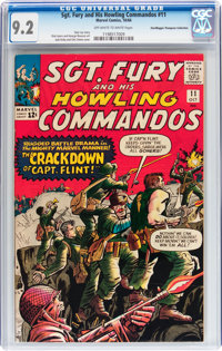 Sgt. Fury and His Howling Commandos #11 Don/Maggie Thompson Collection pedigree (Marvel, 1964) CGC NM- 9.2 Off-white to...