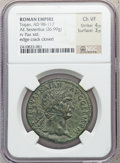 Ancients:Roman Imperial, Ancients: Trajan (AD 98-117). Orichalcum sestertius (26.99 gm)....