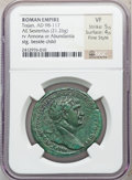 Ancients:Roman Imperial, Ancients: Trajan (AD 98-117). Orichalcum sestertius (21.26 gm)....
