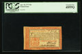Colonial Notes:Pennsylvania, Pennsylvania April 10, 1777 Red and Black 20s PCGS Extremely Fine 45PPQ.. ...