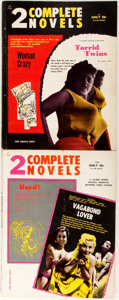 """Books:Periodicals, [Erotica]. Pair of 2 Complete Novels Issues. Chicago: NovelBooks, 1962. Issues 1502 and 1503. Includes """"Woman C... (Total: 2Items)"""