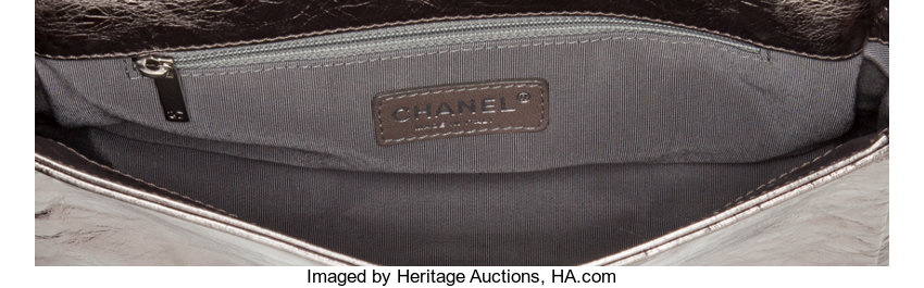 7de6c47e01a197 Chanel Distressed Pewter Leather Modern Chain Flap Bag | Lot #56646 |  Heritage Auctions