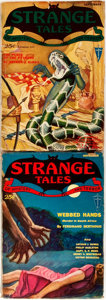 Books:Horror & Supernatural, Group of the First Two Issues of Strange Tales. New York: Clayton, 1931. Volume one, issues one and two. Publisher's... (Total: 2 Items)