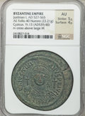 Ancients:Byzantine, Ancients: Justinian I the Great (AD 527-565). Æ follis (23.21 gm)....