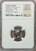 Ancients:Roman Imperial, Ancients: Augustus (27 BC-AD 14). AR denarius (3.78 gm)....