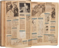 Movie/TV Memorabilia:Documents, An Orson Welles Radio-Related Scrapbook, 1939-1941....