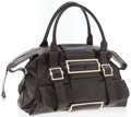Luxury Accessories:Bags, Givenchy Dark Brown Leather Bowling Bag with Antiqued GoldHardware. ...