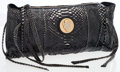 Luxury Accessories:Bags, Gucci Black Python Oversize Heritage Clutch Bag. ...