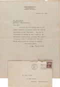 Autographs:Inventors, Robert H. Goddard 1936 Typed Letter Signed Regarding RocketResearch.... (Total: 4 Items)