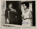 Movie/TV Memorabilia:Autographs and Signed Items, An Elizabeth Taylor and Paul Newman Signed Black and White FilmStill, Circa 1980s....