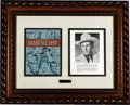 Music Memorabilia:Autographs and Signed Items, Hank Williams Signature Display....