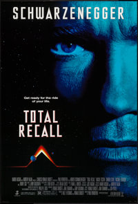 """Total Recall (Tri-Star, 1990). One Sheets (2) (26.75"""" X 39.75"""") SS Regular & DS Advance. Science Ficti..."""