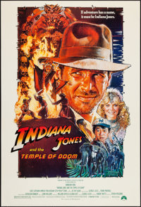 """Indiana Jones and the Temple of Doom (Paramount, 1984). One Sheet (27"""" X 41"""") Style B. Adventure"""
