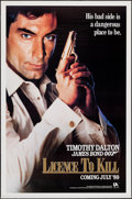 "Movie Posters:James Bond, Licence to Kill & Other Lot (United Artists, 1989). One Sheet, & Television Poster (27"" X 41""). James Bond.. ... (Total: 2 Items)"
