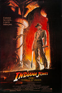 """Indiana Jones and the Temple of Doom (Paramount, 1984). One Sheet (27"""" X 40"""") Style A. Adventure"""