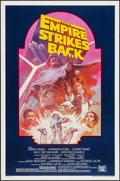 "Movie Posters:Science Fiction, The Empire Strikes Back (20th Century Fox, R-1982). One Sheet (27""X 41"") Dark Blue Style. Science Fiction.. ..."