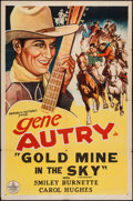 """Movie Posters:Western, Gold Mine In the Sky (Republic, R-1940s). One Sheet (27"""" X 41""""). Western.. ..."""