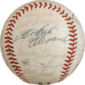 Baseball Collectibles:Balls, 1964 Pittsburgh Pirates Team Signed Baseball With Stellar RobertoClemente. ...