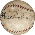 Autographs:Baseballs, 1924 World Tour Baseball Signed by Chicago White Sox & New York Giants Teams....