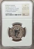 Ancients:Roman Imperial, Ancients: Domitia, wife of Domitian (Augusta, AD 82-96). ARcistophorus (10.60 gm)....