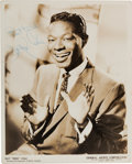 "Music Memorabilia:Autographs and Signed Items, Nat ""King"" Cole Signed Publicity Photo...."