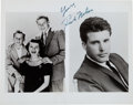 Music Memorabilia:Autographs and Signed Items, Rick Nelson Signed Press Photo.... (Total: 2 Items)