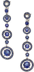 Estate Jewelry:Earrings, Sapphire, White Gold Earrings, Boucheron. ...