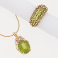 Estate Jewelry:Suites, Peridot, Diamond, Gold Jewelry. ... (Total: 2 Items)