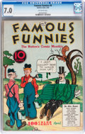 Platinum Age (1897-1937):Miscellaneous, Famous Funnies #9 (Eastern Color, 1935) CGC FN/VF 7.0 Off-whitepages....