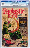 Silver Age (1956-1969):Superhero, Fantastic Four #1 (Marvel, 1961) CGC GD/VG 3.0 Cream to off-whitepages....