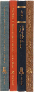 Books:Reference & Bibliography, [Bibliography]. [Henry David Thoreau, Robert Browning, SamuelButler, Gulliver's Travels]. Group of Four Bibliogra...(Total: 4 Items)