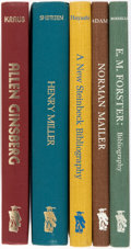 Books:Reference & Bibliography, [Bibliography]. [Allen Ginsberg, Henry Miller, John Steinbeck,Norman Mailer, E.M. Forster]. Group of Five Bibliographies. N...(Total: 5 Items)