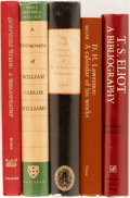 Books:Reference & Bibliography, [Bibliography]. [T.S. Eliot, William Carlos Williams, GertrudeStein, D.H. Lawrence]. Group of Five Bibliographies. Various ...(Total: 5 Items)