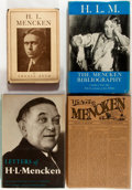 Books:Reference & Bibliography, [H.L. Mencken]. Group of Four Books about H.L. Mencken. Includes abibliography and a biography. Various publishers and date...(Total: 4 Items)