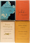Books:Reference & Bibliography, [Bibliography]. [William Faulkner, Ernest Hemingway, Jack London,James Thurber]. Group of Four Bibliographies. Various publ...(Total: 4 Items)