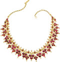 Estate Jewelry:Necklaces, Diamond, Ruby, Gold Necklace. ...