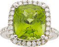Estate Jewelry:Rings, Peridot, Diamond, White Gold Ring. ...