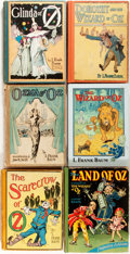 Books:Children's Books, L. Frank Baum. Group of Five Oz Titles. Chicago: Reilly& Lee, [1907-1939]. [and:] The Wonderful Wizard of O...(Total: 6 Items)