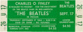 "Music Memorabilia:Tickets, Beatles Unused Kansas City ""Extra Show"" Concert Ticket (1964)...."