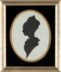 Political:Presidential Relics, [Thomas Jefferson]: Personally-Owned Silhouette of Granddaughter....