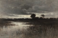 Paintings, WILLIAM CROTHERS FITLER (American, 1857-1900). In the Marshes, 1882. Oil on canvas. 12-3/4 x 18-1/2 inches (32.4 x 47.0 ...