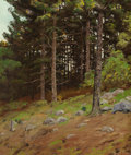 Fine Art - Painting, American:Modern  (1900 1949)  , BEN FOSTER (American, 1852-1926). In the Pines. Oil oncanvas. 30-5/8 x 25-1/2 inches (77.8 x 64.8 cm). Signed lowerlef...