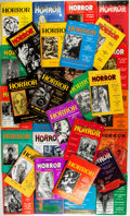 Books:Horror & Supernatural, Group of Thirty-Four Magazine of Horror Issues. New York:Health Knowledge, 1963-1971. Nearly consecutive from i... (Total:34 Items)