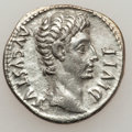 Ancients:Roman Imperial, Ancients: Augustus (27 BC-AD 14). AR denarius (3.41 gm)....
